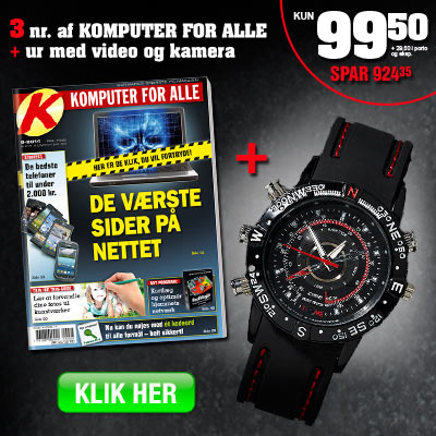 Komputer for alle + spion ur med videokamera.